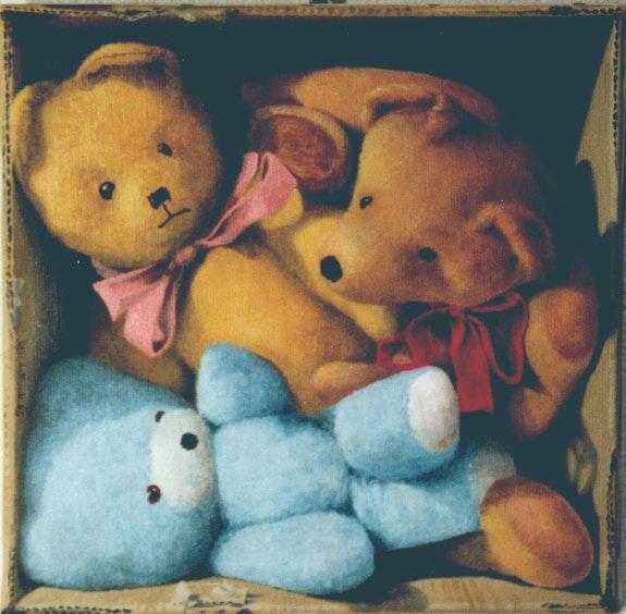 Three Bears in a carton. J. L. Laurain Jean-Louis Laurain