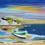 Breton Landschaft bei Ebbe. Daniel Mauqué