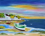 Paysage breton à marée basse.