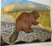 Canadian Beaver in seiner Umgebung.