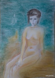 Seated Nude - tribute to Picasso.