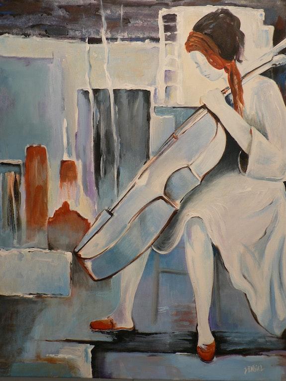L'Artiste joue la mélodie de son temps. L'hiver. Jackie Engiel Jackie Engiel