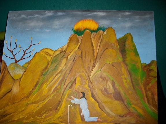 Prophète Moïse sur le mont Sinaï.. Léon Mulomba Kapata Léon Mulomba Kapata