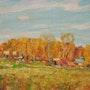Otoño en el Gariam del pueblo, óleo sobre lienzo, 1996. Axel Zwiener