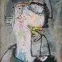Portrait, huile sur toile, 1994. Axel Zwiener