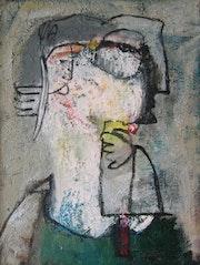 Porträt, Öl auf Leinwand, 1994. Axel Zwiener