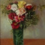 Floral Still Life, huile sur toile. Axel Zwiener