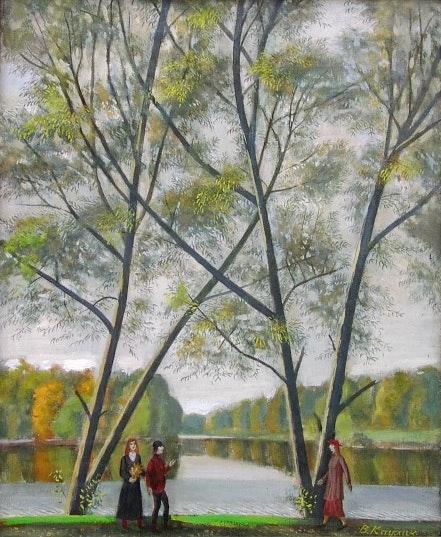 Caminar, óleo sobre lienzo, 1992. W. Kaulin Axel Zwiener
