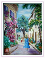Stroll in the south of France. Monique Martin
