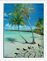 Polynésie : lagon. Monique Martin