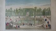 punto de vista óptico - vista desde la Fuente de Montalto Jardín - Roma.