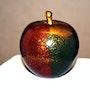 Adam's apple. (Terracotta oxides and patina bronze powder). Sculpteur / Tauzia Jean-Pierre