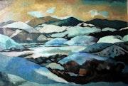 Winter, oil on canvas 75x55 cm. Azbasha