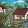 Casas de mi tierra, en alto relieve. Jacky Zuñiga