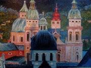 Austria: Salzburgo en la noche. Monique Martin