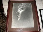 John Lennon Imagine Bleistiftzeichnung. Ian Knagg