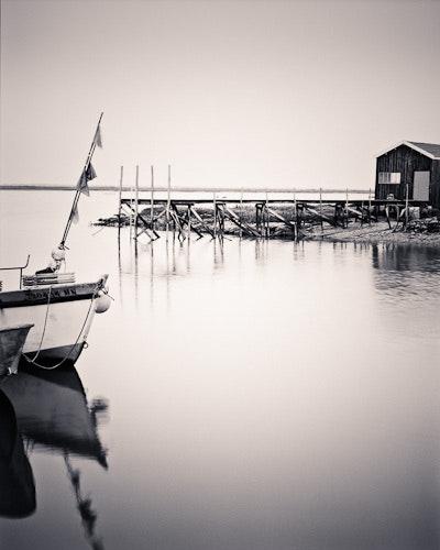 Oysterman's hut with boat, La Tremblade, Charente Maritime, France. Neil J. Plummer Neil J. Plummer