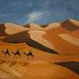 Caravan in the desert. Gerard Betat