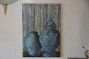 Blue vases.