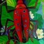 Beetle… Oil on canvas… 1994. Axel Zwiener