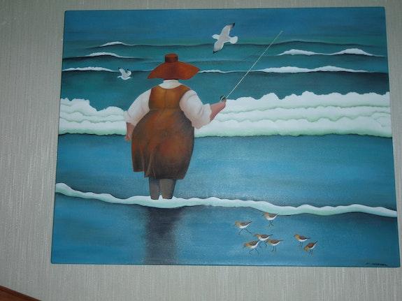 Die dicke Dame, Fische (Reproduktion von L. Herrero).  Nicole Armengol