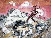 Azbasha; oriental landscape. Azbasha