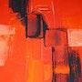Red de laca sobre el cadmio Roja. Mag