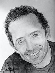 Gad Elmaleh portrait.