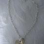 Mientras collar de corazones de plata con 925 Corazón Swarovski sombra dorada. Nadine
