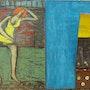 La petite rousse en robe jaune et lascive. Michel Vautier
