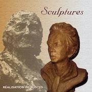 escultura contemporánea busto de hombre.