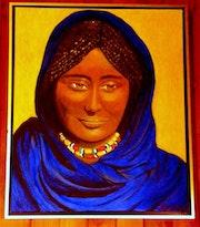 Femme du désert.