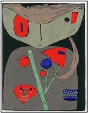 Paul Klee «Figur der östlichen Bühne» Seltene Original Serigrafie 1941. Galerie Nuewe Nüske & Werth