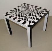 tabla Op-Art / acabado de alto brillo de diseño n º 11. Future Fusion Furniture