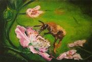 La abeja divertido.