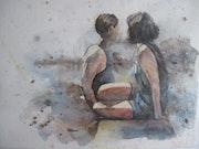 Futures - watercolor 24x32cm.