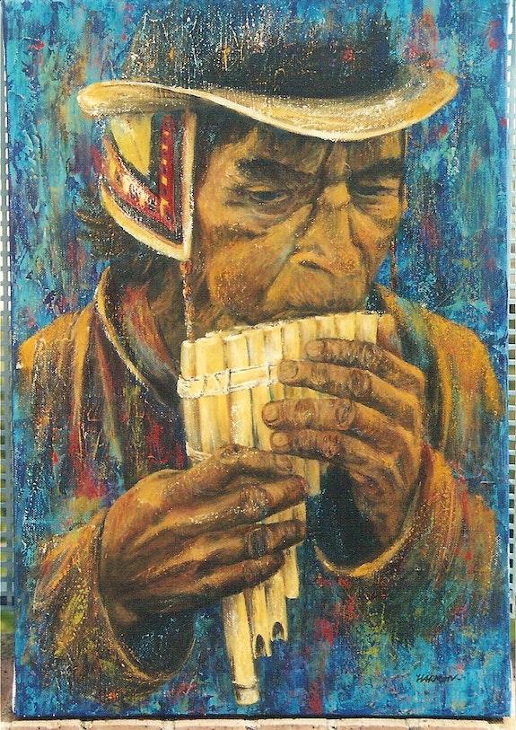 La flûte de Pan (Indien Quechua). Elp Elisabeth Le Prunenec
