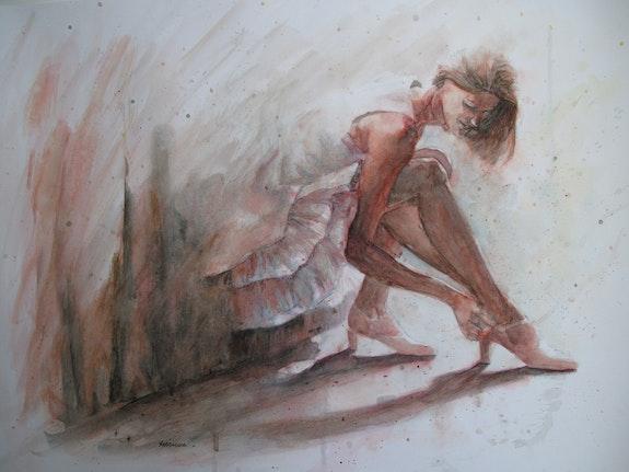Sortie - aquarelle. Elisabeth Le Prunenec Elisabeth Le Prunenec