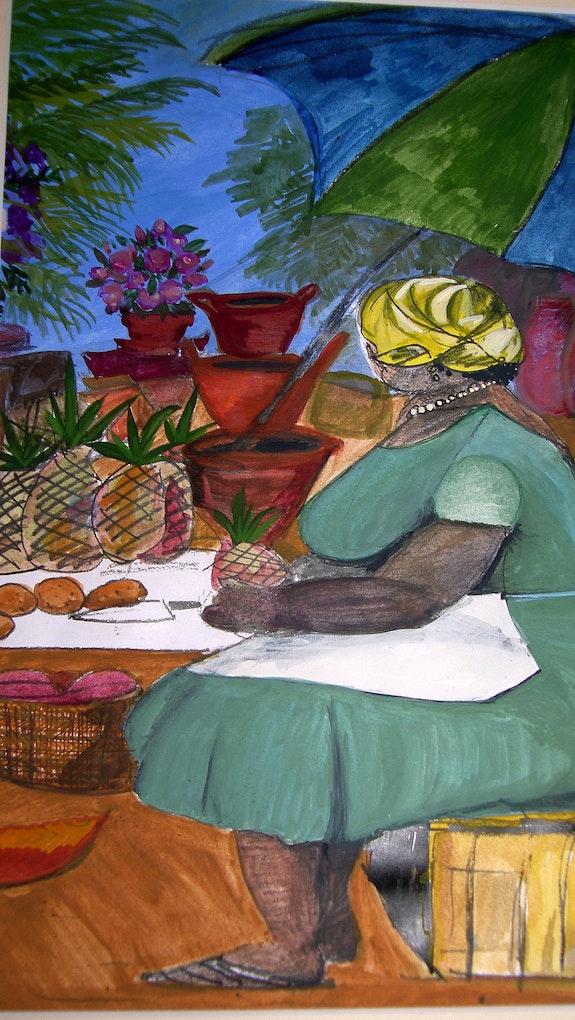 El mercado de frutas en Santa Lucía. Jane Prince Jane Prince Design
