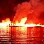 Fire Lake. Manha