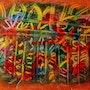 Marange and oil pastels 1977. Charles Zarka