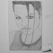 Angelina Jolie dibujo. Jimy