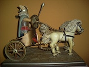 Celtic Gerrero mounted on a chariot. Urruchi