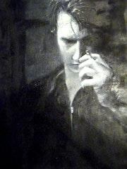 Portrait des Rauchens.