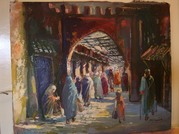 Ruelle de l'ancienne medina maroc.  Chatir
