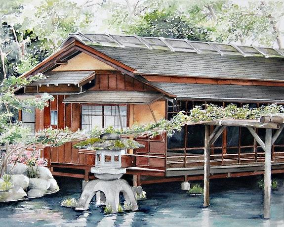 Haus auf dem Wasser. Houmeau