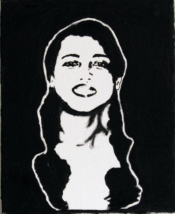 Portrait sur fonds noir. Lanto Ranaivosoa Lanto R.