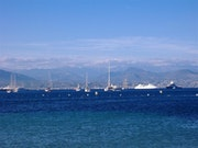 The sea in Antibes.