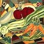 Eat Vegetable - original painting - Jacqueline_Ditt. Universal Arts Galerie Studio Gmbh