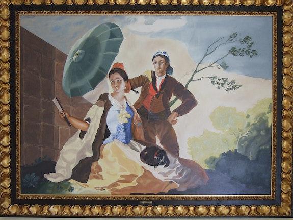 The Sun Removes Francisco de Goya. Adolfo León replica oil on panel. Francisco De Goya. Replica Adolfo León Adolfo Leon